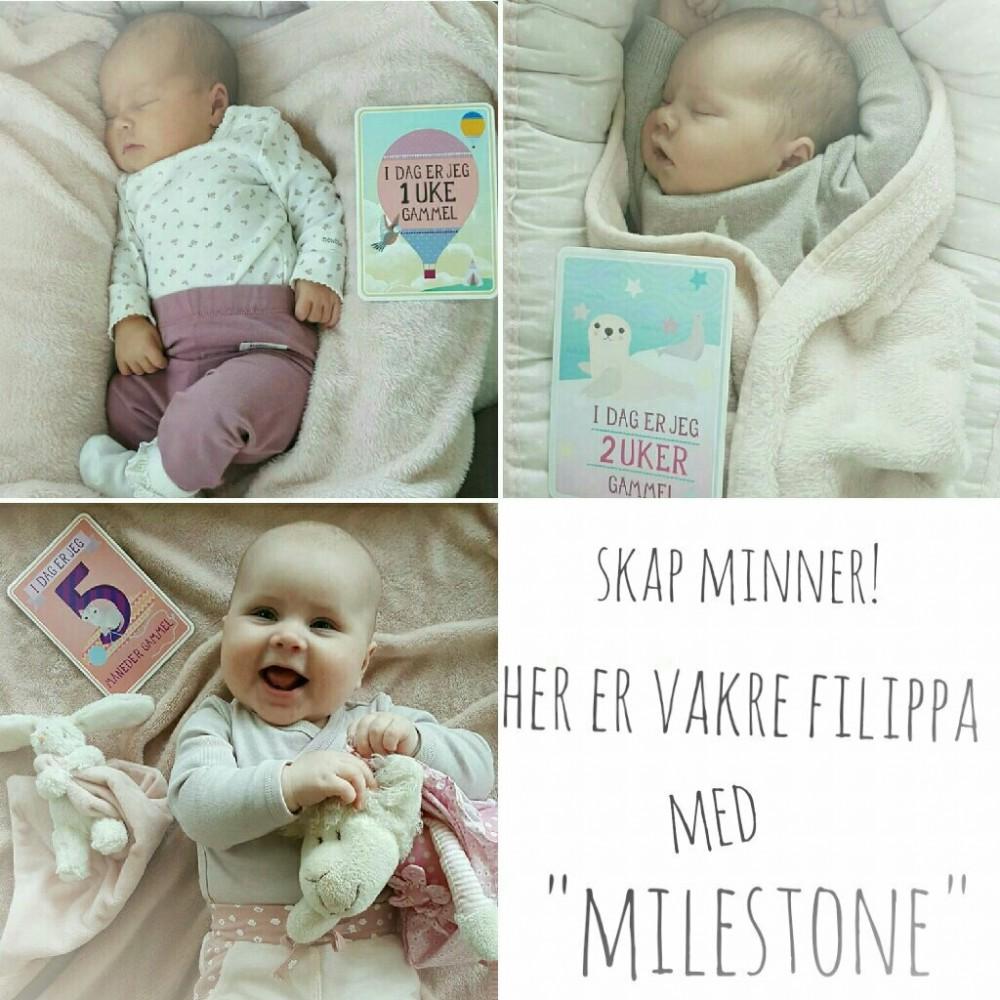 Milestone Baby Kort - Gave til baby shower | Det lille ekstra til din Baby Shower. Gaver, pynt ...