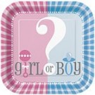 Tallerkener fra serien girl or boy, til en nøytral baby shower thumbnail
