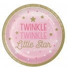 Rosa Twinkle Little Star Tallerkener- Baby Shower Nettbutikk thumbnail