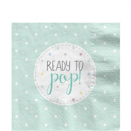 """Ready To Pop"" Mint Servietter"