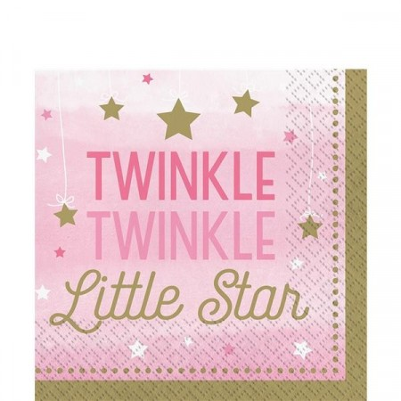 Rosa Twinkle Little Star Servietter