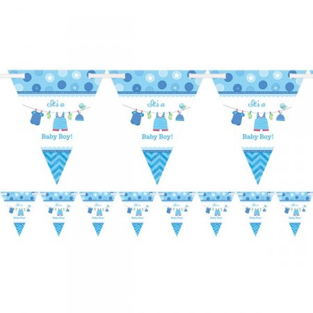 It's A Baby Boy Trekant Banner