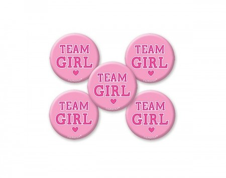 Team Girl Button