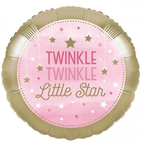 Rosa Twinkle Little Star Folieballong