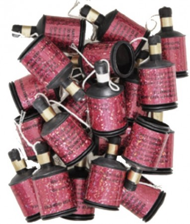 Rosa Party Poppers
