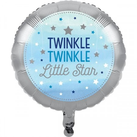 Blå Twinkle Little Star Folieballong