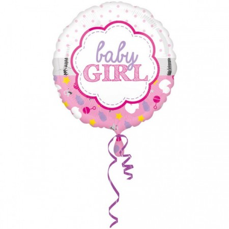Baby Girl Folieballong