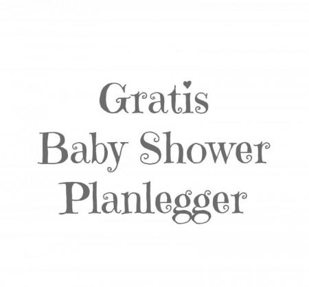 Baby Shower Planlegger (NYHET)
