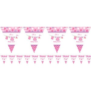 It's A Baby Girl Trekant Banner