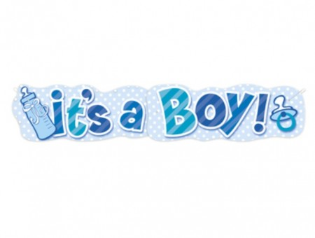 Stor It´s A Boy Tåteflaske Banner