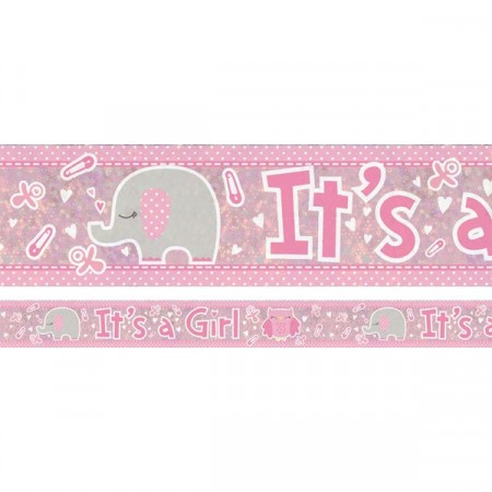 It´s A Girl Elefant Banner
