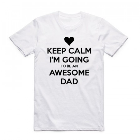 """Keep Calm Im Going To Be An Awsome Dad"" T-skjorte"