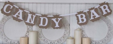 "Hengende ""Candy Bar"" Banner"