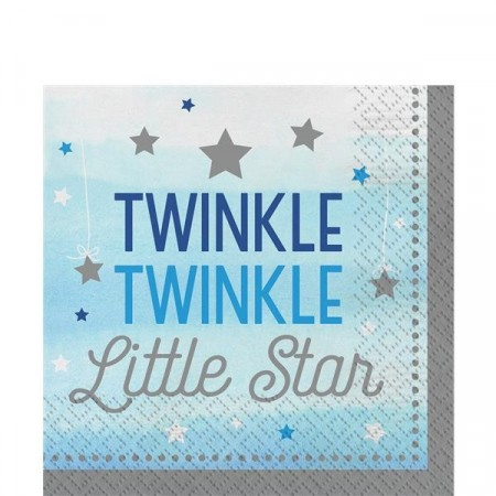 Blå Twinkle Little Star Servietter