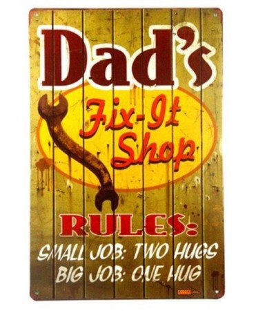 """Dad´s Fix-it Shop"" Skilt"