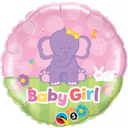 Baby Girl Elefant Folieballong
