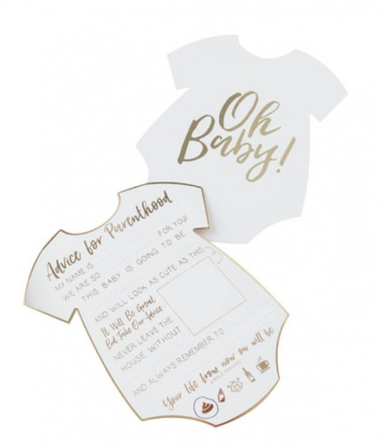 Oh Baby! Parenthood Advice Kort - Baby Shower