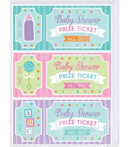 Baby Shower Prize Ticket - Underholdning til baby shower