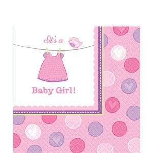 It´s A Baby Girl Servietter- Baby Shower Nettbutikk