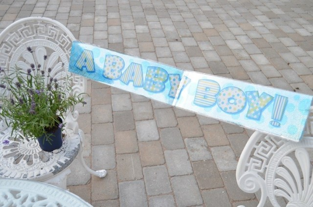 A baby boy banner - Din Baby Shower