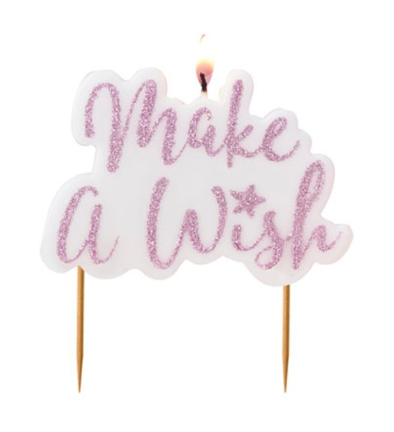 Make A Wish Kakelys - Pynt til baby shower