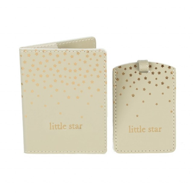 "Limited Edition ""Little Star"" Pass Og Bagasjetag - Baby Shower Og Dåpsgave"