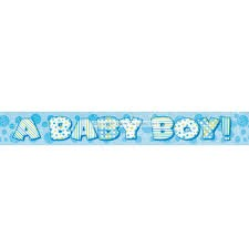 A baby boy banner - Pynt til Baby Shower