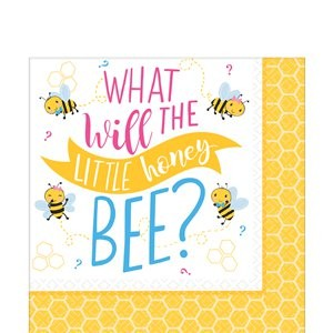What will the little honey bee servietter til baby shower