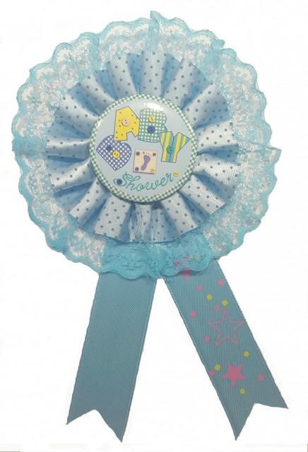 Blå Baby Shower Button - Baby Shower Nettbutikk